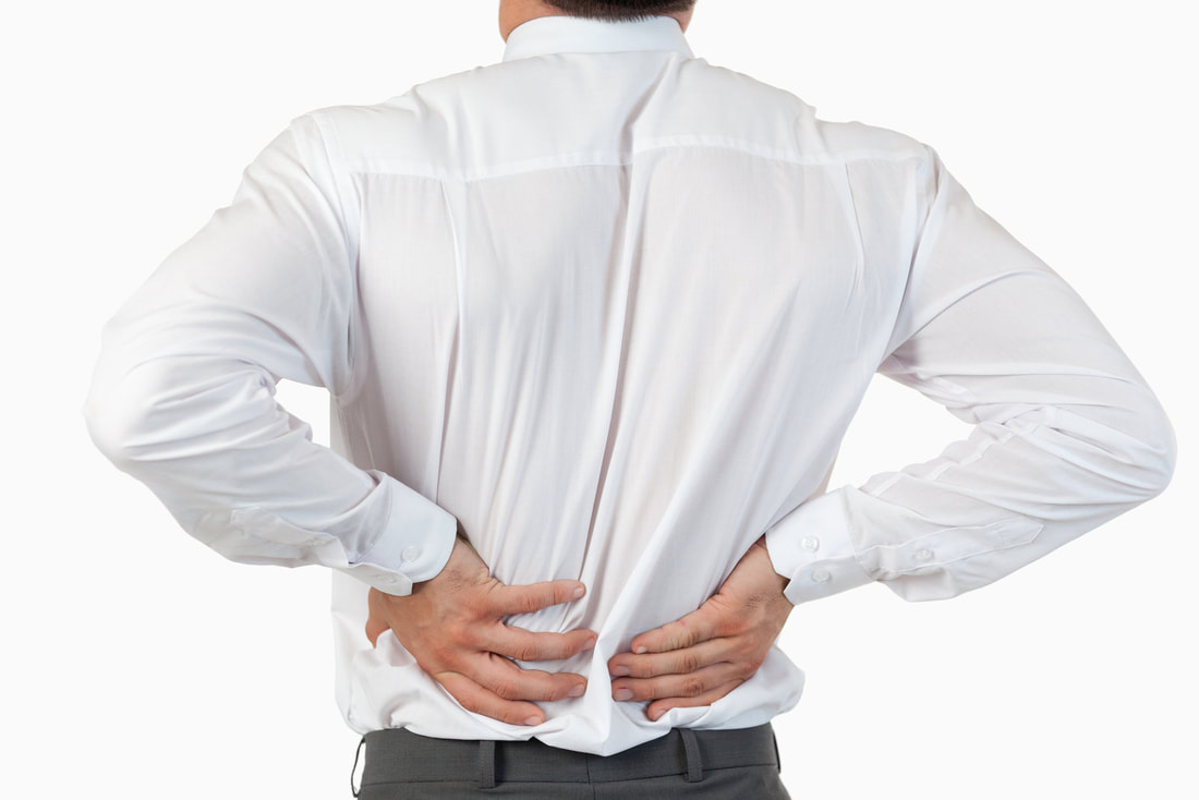 man have a back pain